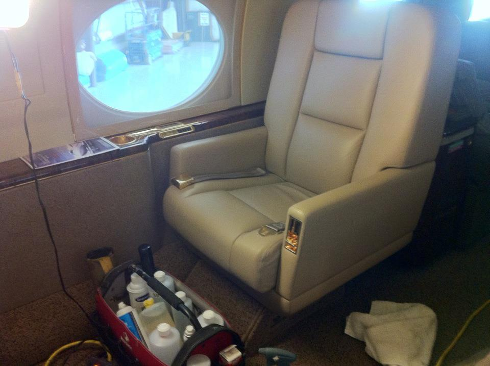 Aircraft Interior Refinished by New Life Service Company of Dallas at www.newlifeservice.net