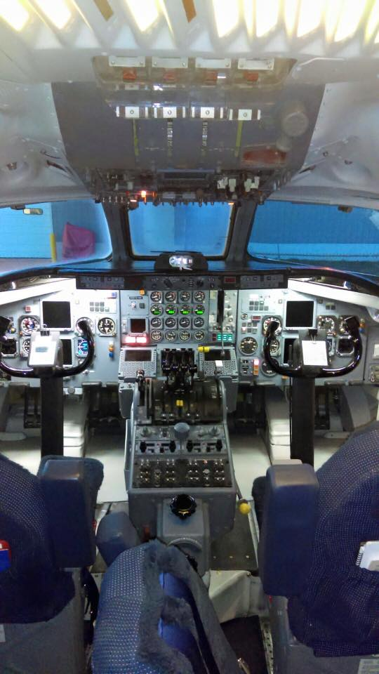 DC8 Aircraft Cockpit Refinish by New Life Service Company of Dallas at www.newlifeservice.net