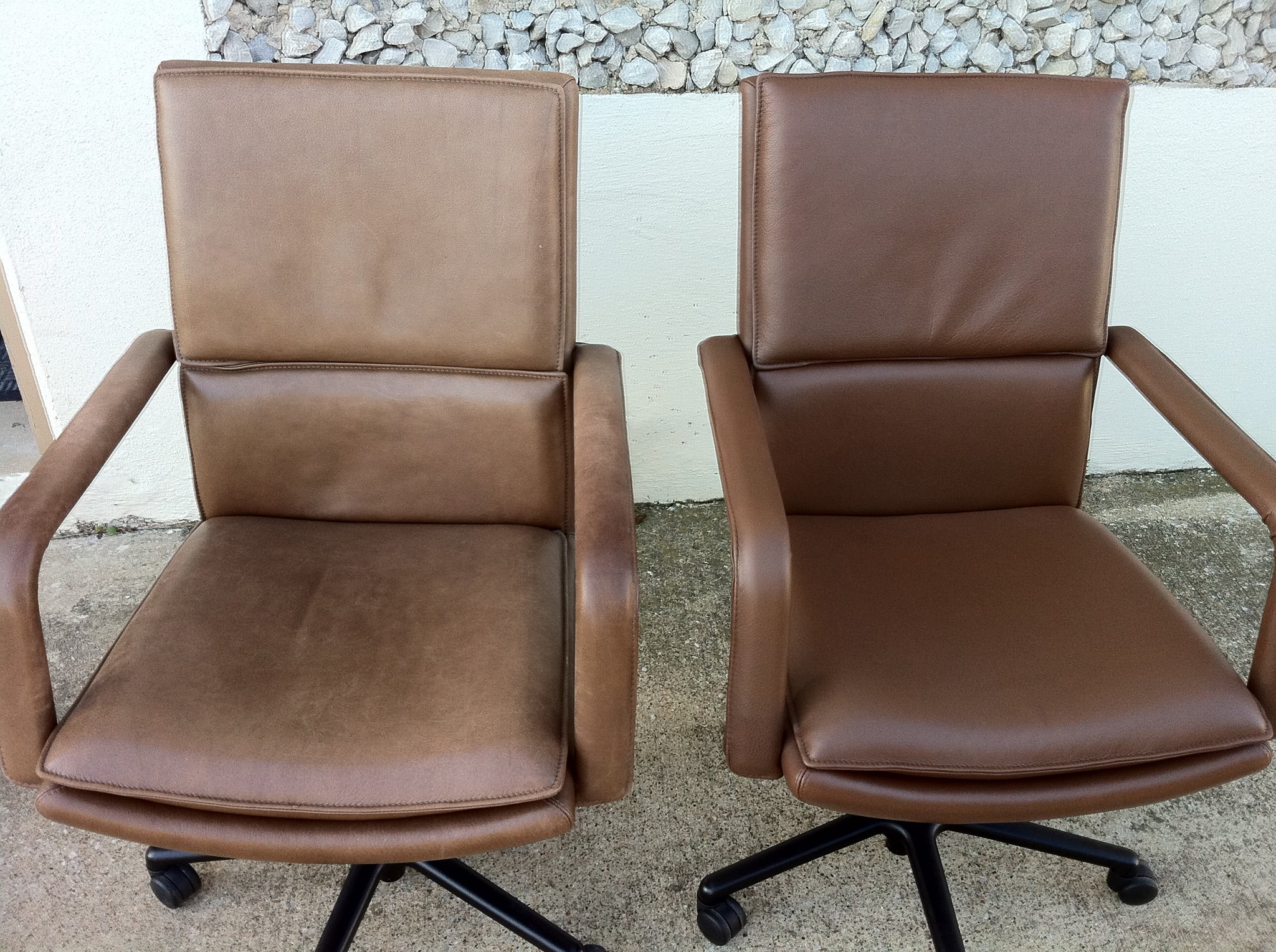 Before & After: Office Chairs Refinished by New Life Service Company of Dallas at www.newlifeservice.net