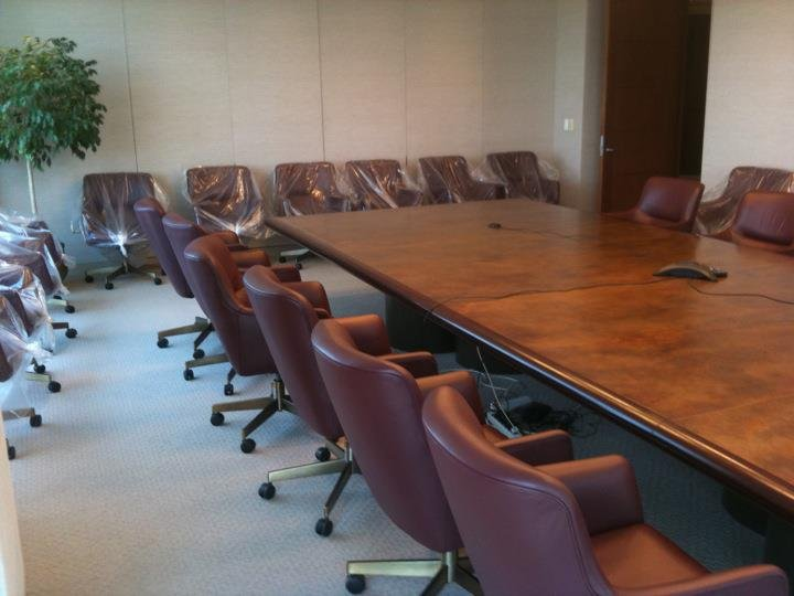 Conference Room Office Chairs Refinished by New Life Service Company of Dallas at www.newlifeservice.net